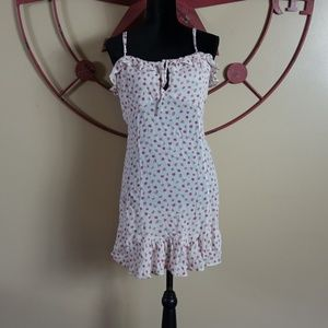 Free people vintage floral baby doll dress size L